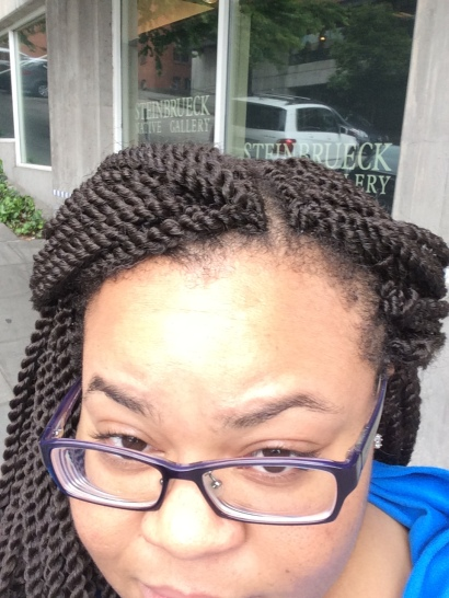 Hair check: My hair stylist was insistent on me trying crochet braids. I'm still not sure about them.