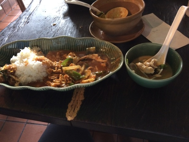 Tom Kha Gai soup and Panang Curry Chicken