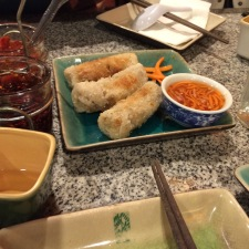 I think these are fried spring rolls