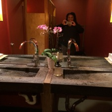 It was a beautiful restaurant even the bathrooms were nice.
